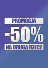 Plakat PROMOCJA 50% NA DRUGĄ RZECZ (PG132)