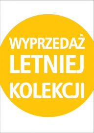 Plakat WYPRZEDAŻ LETNIEJ KOLEKCJI yellow (PG160)