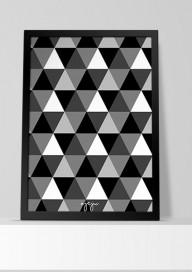 Plakat P40 - Trójkąty