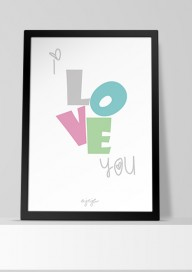 Plakat P38 - I love you