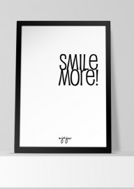 Plakat P39 - Smile More!