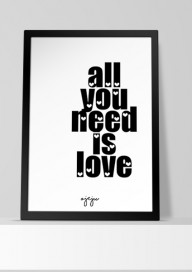 Plakat P34 - All you need is love