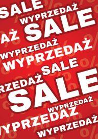 Plakat (PG30) Wyprzedaż/Sale red