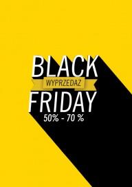 Plakat (PG038) Black Friday Wyprzedaż 50%-70%