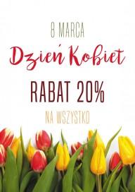 Plakat (PG046) Rabat 20% z okazji dnia kobiet