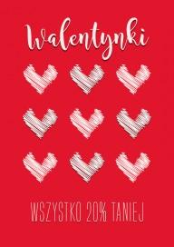 Plakat (PG057) Walentynki wszystko 20% taniej