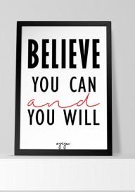 Plakat (P50) Believe