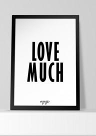 Plakat (P53) Love much