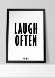 Plakat (P54) Laugh often