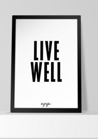 Plakat (P55) Live well