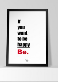 Plakat (P058) If you want to be happy