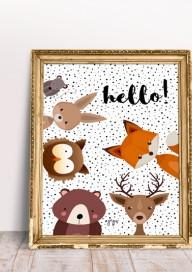 Plakat (P059) Leśne zwierzaki