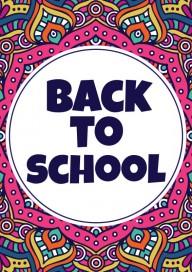 Plakat (PG150) Back to school