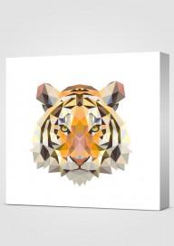 Obraz Geometryczny Tygrys