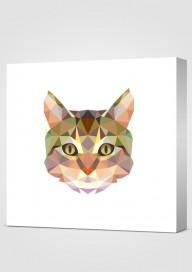 Obraz Geometryczny Kot