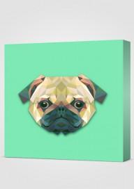 Obraz Geometryczny Pies