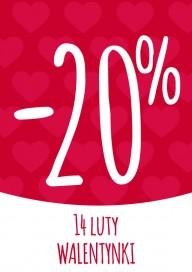 Plakat (PG013) -20% na walentynki