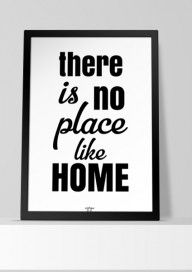 Plakat (P005) There is no place like home