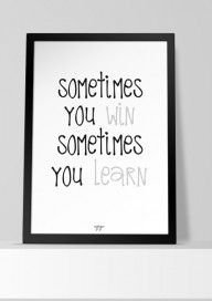 Plakat (P111) Sometimes...