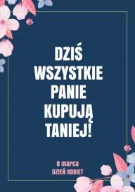 Plakat (PG311) Promocje na Dzień Kobiet