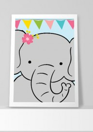Plakat (P015) Słoń