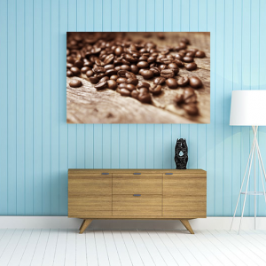 Obraz Kawa na drewnie Kuchnia (O019)