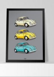 Plakat (P030) Retro cars
