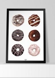 Plakat (P033) Donuts