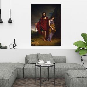 Obraz Edyp i Antygona Antoni Brodowski Reprodukcja (R042)