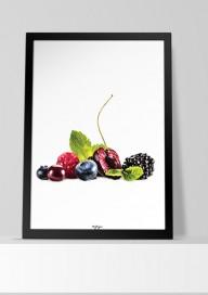 Plakat (P036) Owoce