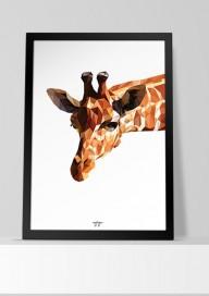 Plakat (P048) Żyrafa