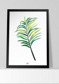 Plakat (P112) Liść palmy