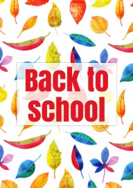 Plakat (PG388) Back to school