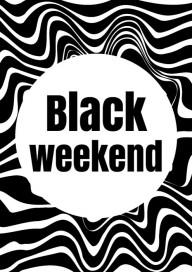Plakat (PG392) Black weekend