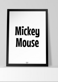 Plakat (P123) Mickey Mouse