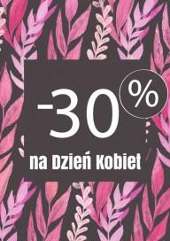 Plakat (PG444) -30% na Dzień Kobiet