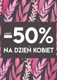 Plakat (PG445) Do -50% na Dzień Kobiet