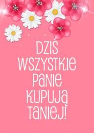 Plakat (PG447) Promocje na Dzień Kobiet