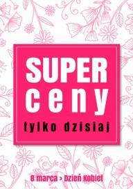 Plakat (PG450) Super ceny na Dzień Kobiet
